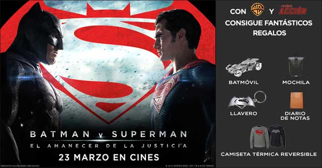 Concurso BATMAN V SUPERMAN Merchandising