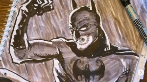 El director de The Flash comparte un boceto de Batman con Ben Affleck y Michael Keaton